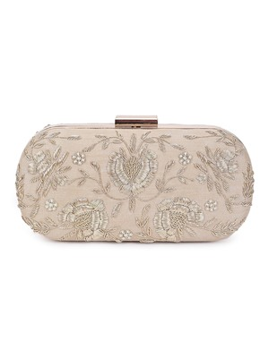 Golden bride clutch