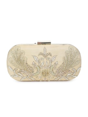 Magnificent peacock clutch