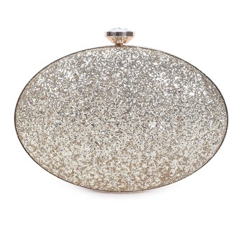 Blingy oval clutch