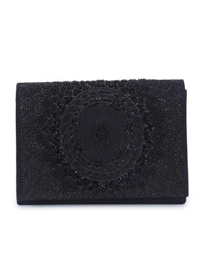 Self embroidery clutch