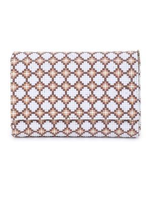 Tile white clutch
