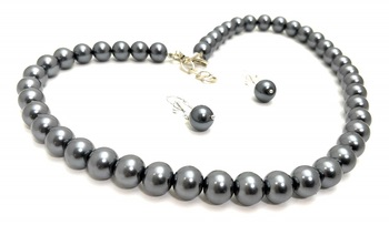 Grey Pearl Necklace Sets