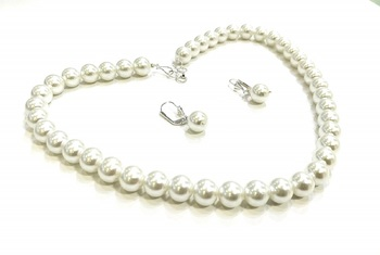 White Pearl Necklace Sets