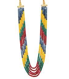 Multicolor semi precious beads women onyx necklaces
