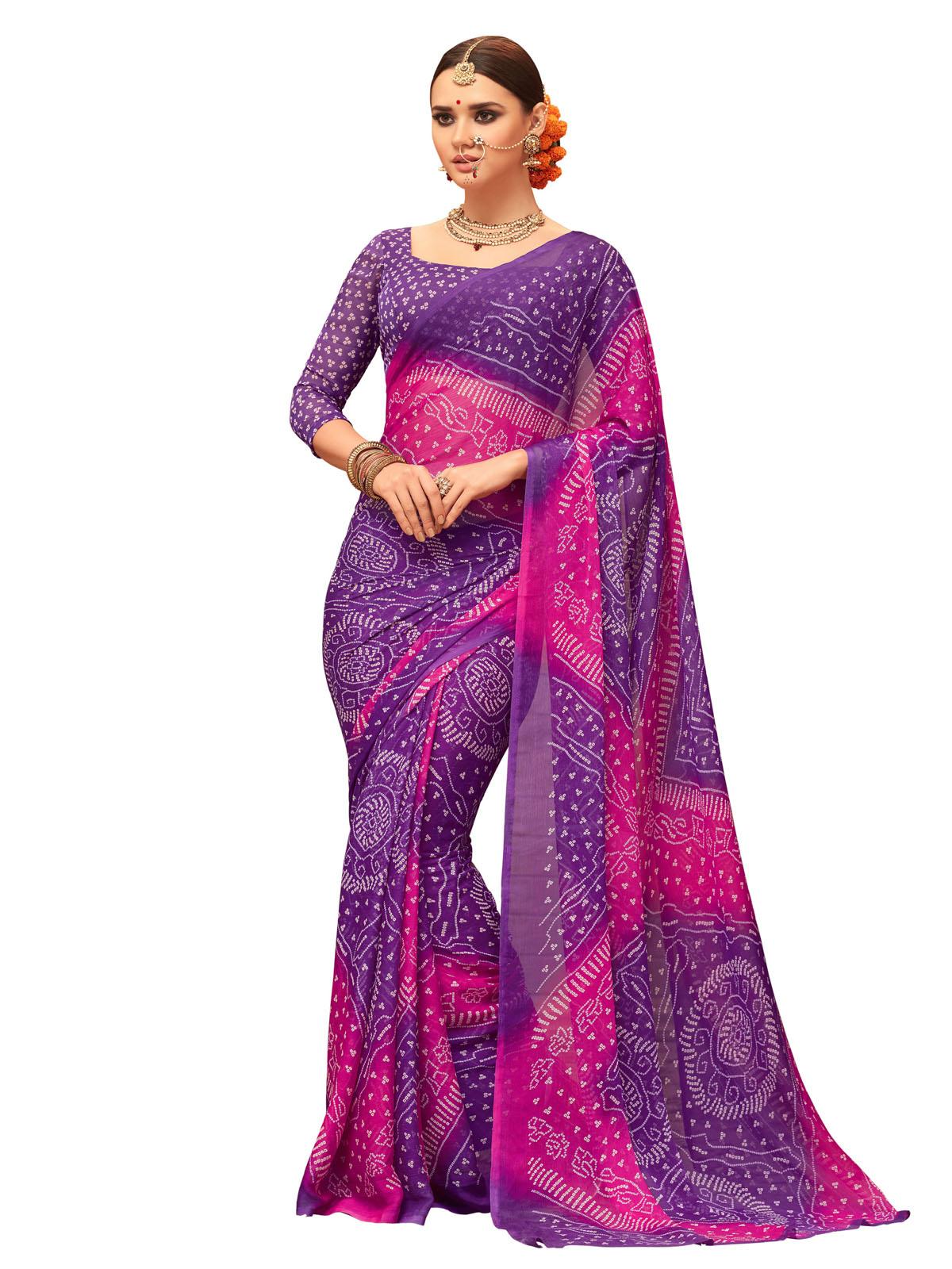 9706fcb1d8a6f Purple Colour Sarees - Buy Purple Saree online   Best Prices