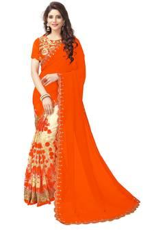 a06bb9eda60304 Orange Color Sarees - Buy Orange Saree Online   Best Prices