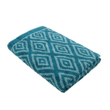 Diamonds Cotton Blue Bath Towel 30 X 60 inch GSM 500