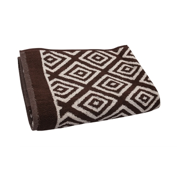 Diamonds Cotton Brown Bath Towel 30 X 60 inch GSM 500