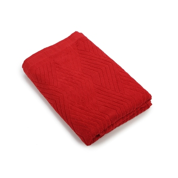 Pyramids Cotton Red Bath Towel 30 X 60 inch GSM 450