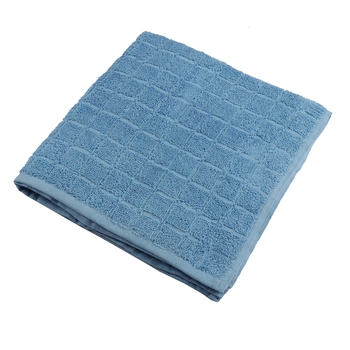 Checkers Cotton L.Blue Ladies Towel 24 X 48 inch GSM 280