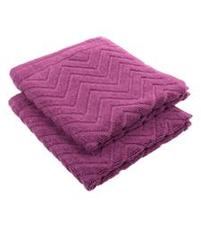 Chevy Solid Cotton Purple Hand Towel 16 X 24 inch Pack of 2 GSM 450