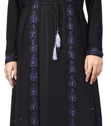 Black Embroidered Lycra Burka