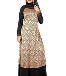 Black embroidered lycra burka