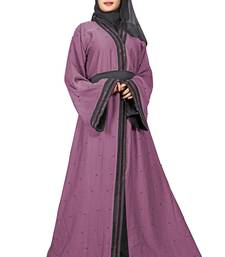 Violet embroidered nida burka