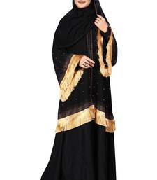 Black embroidered nida burka