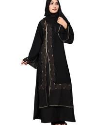 Black embroidered nida burka