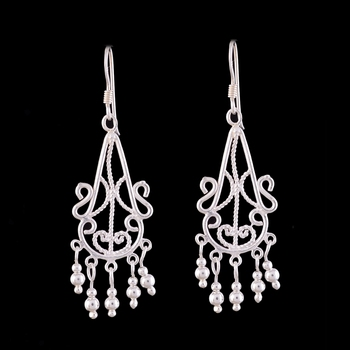 4.23 Gms Silver Elegant Designer Earrings