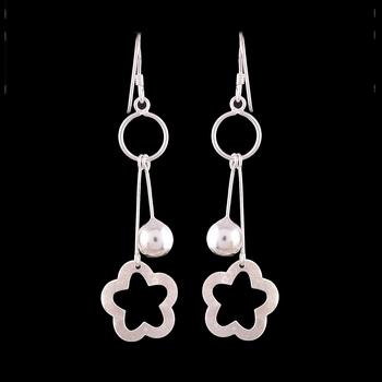 4.50 Gms Silver Designer Earrings