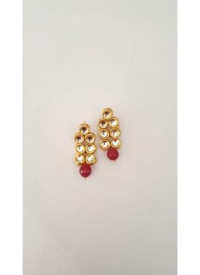 Round Shape Kundan Earring