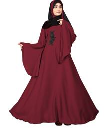 Red embroidered nida burka
