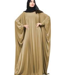 Beige Plain Lycra Burka