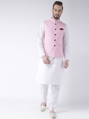 White Plain Cotton Kurta Pajama