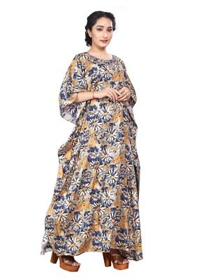Multicolor printed rayon islamic kaftans