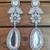 Silver cubic zirconia danglers drops
