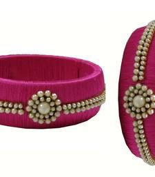Pink silk thread bangles