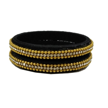 Black silk thread bangles