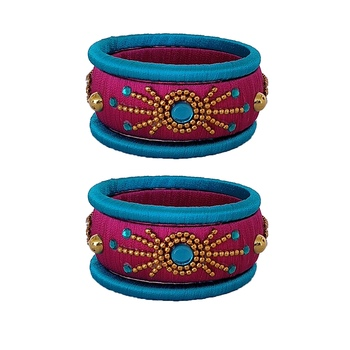 Pink Silk Thread Bangles