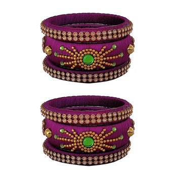 Purple Silk Thread Bangles