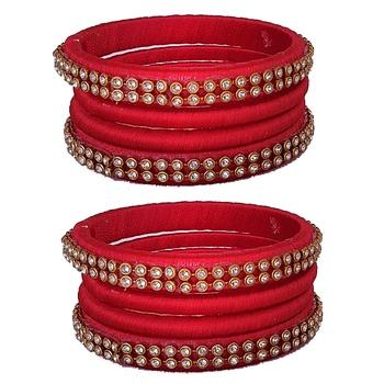 Red Silk Thread Bangles