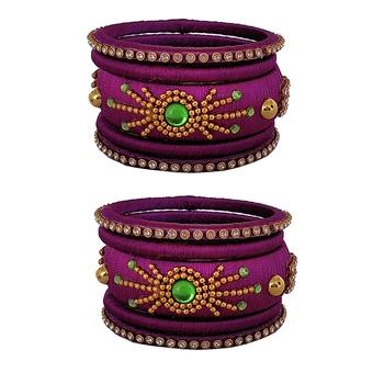 Purple Silk Thread Bangles