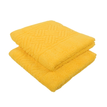 Regal Cotton Yellow Hand Towel 16 X 24 inch Pack of 2 GSM 500
