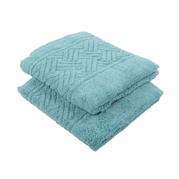 Regal Cotton Petrol Hand Towel 16 X 24 inch Pack of 2 GSM 500