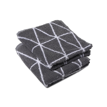 Dunes Cotton Grey Hand Towel 16 X 24 inch Pack of 2 GSM 500