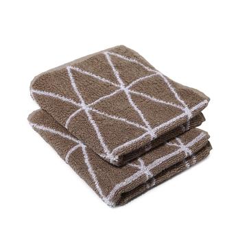 Dunes Cotton Beige Hand Towel 16 X 24 inch Pack of 2 GSM 500
