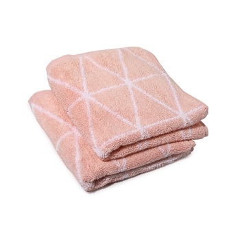 Dunes Cotton Peach Hand Towel 16 X 24 inch Pack of 2 GSM 500