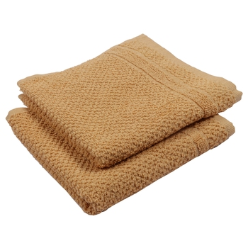Turf Cotton Mustard Hand Towel 16 X 24 inch Pack of 2 GSM 350