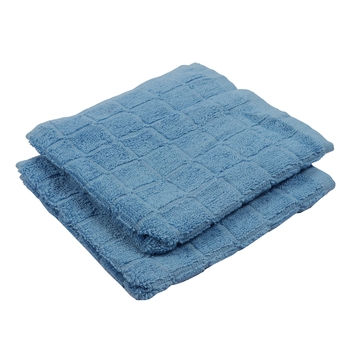 Checkers Cotton L.Blue Hand Towel 16 X 24 inch Pack of 2 GSM 280