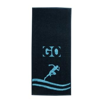 Go Cotton Blue Gym Towel 14 X 32 inch GSM 500
