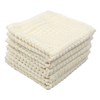 Matrix Cotton Ecru Face Towel 12 X12 inch Pack of 6 GSM 450