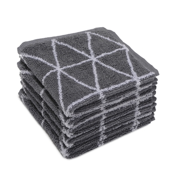 Dunes Cotton Grey Face Towel 12 X12 inch Pack of 6 GSM 500