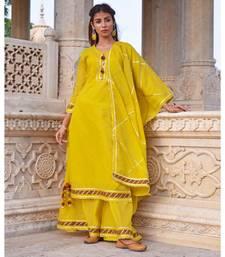Mustard Yellow Sharara  Kurta & Dupatta Set