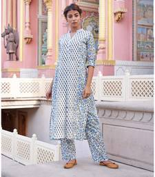 Set of Multi print Kurta with Pants