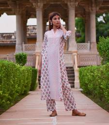 Set of Multi print Kurta with Printed Pants