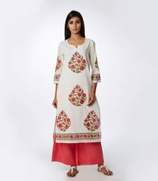 Set of Block Printed Kurta & Parallel Pants