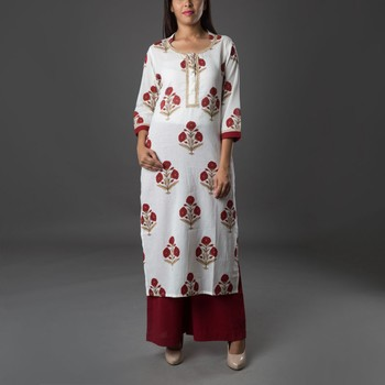 Set of Block Printed Kurta & Pants