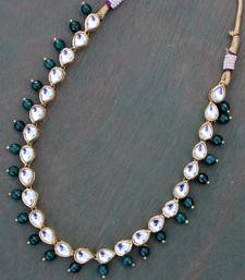 Kundan and Green onyx necklace string